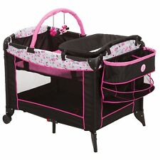 Pack N Play Playard Playpen Bassinet Baby Crib Diaper Changer Minnie Baby Girls
