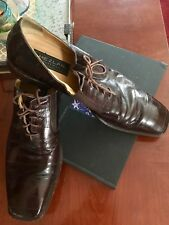 MEZLAN Platinum Caspeo 15 D / M Espresso Eelskin Oxfords Spain Made Mint EUC!