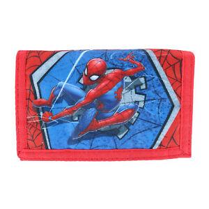Neuf Textiel Trade Enfant Marvel Spiderman Et Toile Portefeuille avec Crochet