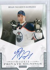 "Ryan Nugent-Hopkins RC Auto ""Rookie Private Signings"" Autograph SP Shortprint"
