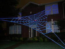 30' BERMUDA GlowWeb GIANT Halloween Rope Spider Web House Yard Prop Decoration