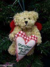 Boyds Bear Plush Grammykins GrandmomChristmas Angel Ornament Country Heart