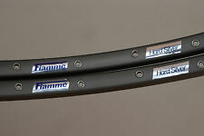 NOS / NEW Vintage Fiamme Hard Silver Tubular Rims (Pair) Grey 32H 700C. Italy.
