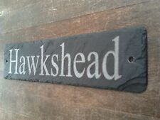 Large Natural Slate Laser Engraved House / Door or Gate Sign 45cm x 10cm