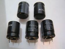 Condensador electrolítico Rubycon 25V 4700uf 85'C 5 piezas