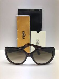 FENDI FF 0047/S EDJCC Havana Brown GoldStones Sunglasses Made in Italy Authentic
