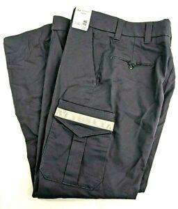 Horace Uniform Work Pant Mens Navy 38R x 37U HS27102 Reflective Cargo Pocket NEW