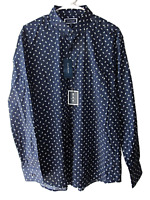 Club Room New Mens Size L Blue Paisley Long Sleeve Button Down Shirt
