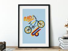 Rad Burner BMX Raleigh Art Poster Print - Wall Art 80s BMX Bike