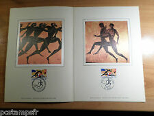 FRANCE / GRECE 1992, DOCUMENT CERES FDC, SPORT, JEUX OLYMPIQUES ETE BARCELONE