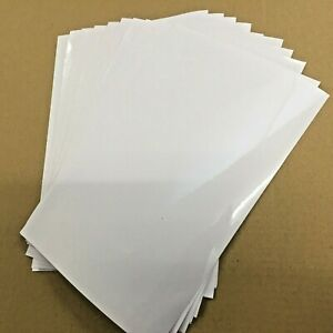 10 x A4/A5 Clear Laminate Self Adhesive Craft Sign Protective Film Ext. Quality