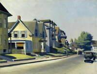 Edward Hopper Sun on Prospect Street Giclee Art Paper Print Poster Reproduction