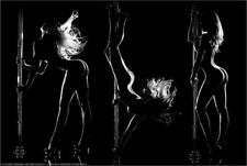 SILHOUETTE DANCER - BENITO ART POSTER - 24x36 POLE DANCERS SEXY PIN UP 30952