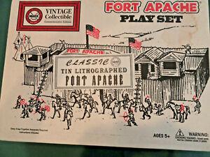 1995 MARX Fort Apache Tin Litho Set  Mint