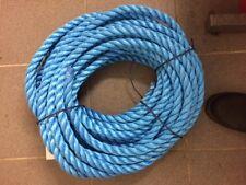 L@@K 22mm Blue Yarn Construction Polypropylene 3 Strand Rope 25mtr