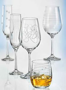 Sektgläser, Weingläser, Wassergläser, Kristall Bohemia, verschiedene Ornamenten