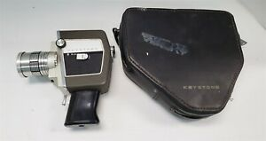 S72 VINTAGE 1950'S? KEYSTOME VIDEO MOVIE CAMERA WITH CASE 8MM FILM