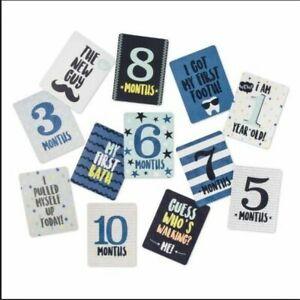 Baby Milestone Cards -Blue Set of 12