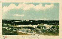 Postcard Ocean Waves, Atlantic City, NJ