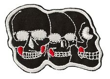 Patch écusson patche thermo 3 Skulls tetes de mort thermocollable