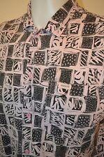 SAUSALITO Abstract Art Geometric USA VTG 90s HIP HOP Retro Pink Fade L/XL SHIRT