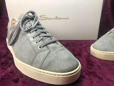 Reduziert! In OVP Santoni Sneaker Grau 10,5 44,5 NP 329,95€ Veloursleder