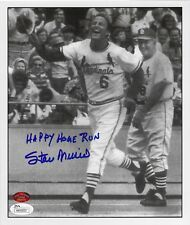 "Stan Musial auto ""HAPPY HOME RUN"" signed Cardinals 8x10 autograph photo JSA STM"