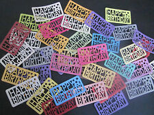 DIE CUTS  HAPPY BIRTHDAY    DIE CUTS 12   CARDSTOCK