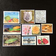 Lot de 10 timbres - Pays divers et années diverses - encore sur frag - A95