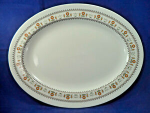 """Royal Doulton 'Kimberley' Pattern 16"""" Charger Platter Oval Shape 1973 T.C 1106"""
