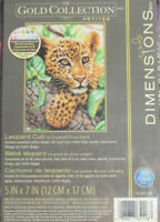 Dimensions The Gold Collection Petites Counted Cross Stitch LEOPARD CUB Cat