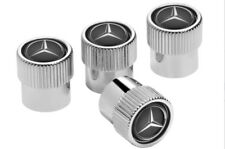Original Mercedes-Benz 4x Ventilzierkappen Ventilkappen Ventildeckel schwarz NEU