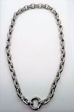 A360 UNIQUE Designer Simple Style Rhodium Plated  Chain Necklace 16 inch