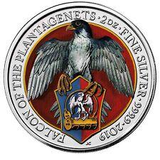 Großbritannien 5 Pfund 2019 Falcon of Plantagenets Falke Queens Beast in Farbe