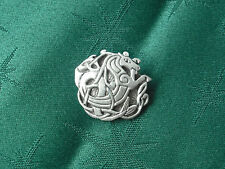 Celtic  Seahorse Button, 25mm diam, Handcrafted in Fine Lead-Free Pewter