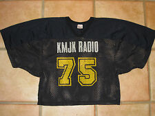 Vtg 70s KMJK Radio Advertising Football Jersey 1/2 cut Portland, OR #75 RARE 80s