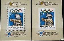 HUNGARY UNGARN 1960 Block 30 A-B 1336 Olympics 1960 Rome Wolf Romulus Remus MNH