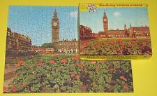 "VINTAGE TUCO JIGSAW PICTURE PUZZLE ""PARLIAMENT SQUARE, LONDON"" BIG BEN BUSES CIB"