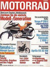 Motorrad 25 1982 Aprilia RX80NW Vespa P200E Yamaha XV1000SE Imperia Nico Bakker