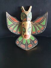 Wooden Totem Thunderbird Handmade Hand Painted Artwork by Leo Marks