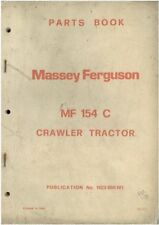 Massey Ferguson Crawler Tractor MF154C Parts Manual - MF 154 C