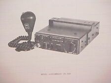 1979 SUPERSCOPE CB RADIO SERVICE SHOP MANUAL MODEL AIRCOMMAND CB-340