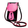 Süße bonbonfarbene Damen Umhängetasche Schultertasche mit Katzenmotiv in Pink