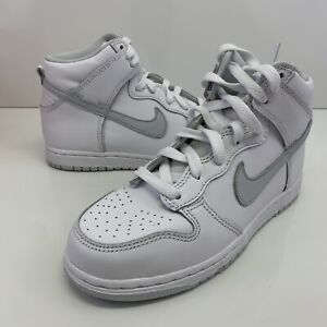 Nike Dunk High SP Pure Platinum Size 2Y (PS) DC9053-101 No Lid