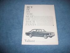 "1960 Plymouth Valiant Vintage ad "" Buy It By The Seat Of Your Pantaloni"