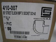 "Lot of 150 - New Spears 410-007 90° Street Elbow MPT X Socket SCH 40 - 3/4"" PVC"
