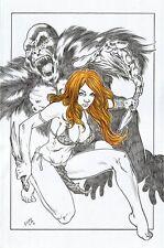 DYNAMITE Comic Sexy JUNGLE GIRL Original Art SHEENA TARZAN GORILLA JANA SKY-BORN