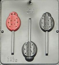 New 3 Cavity Insect Ladybug Choc Candy Fondant Plaster Clay Lolly Mold