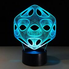 ENEM 3D Illusion Night Touch Switch LED Desk Table Light Lamp Nice Gift