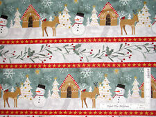 Christmas Gingerbread Stripe Cotton Fabric Wilmington Frosted Holiday By Yard